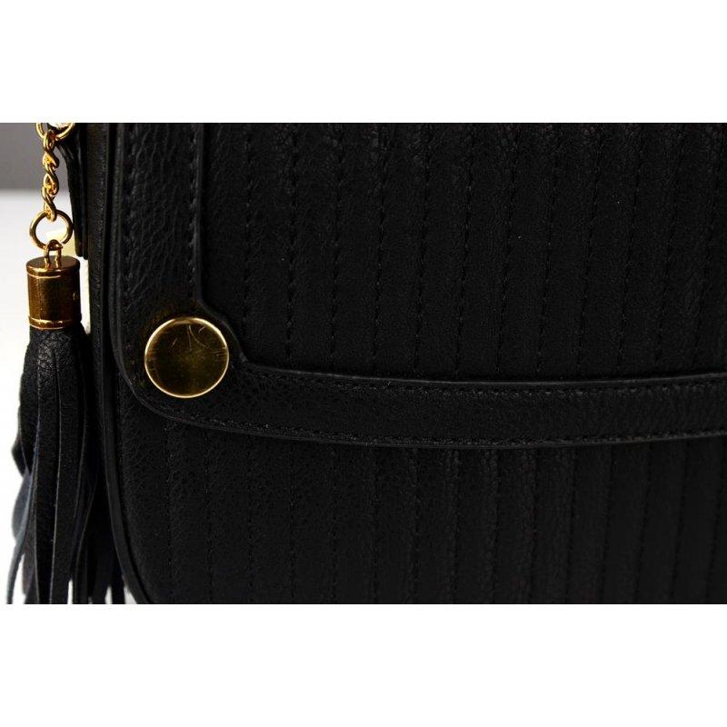 Elegancka listonoszka damska M-6010 - czarna