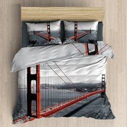 Pościel 3D 200x220 100 % BAWEŁNA POLSKI PRODUCENT WZ. 090 Most Golden Gate Bridge