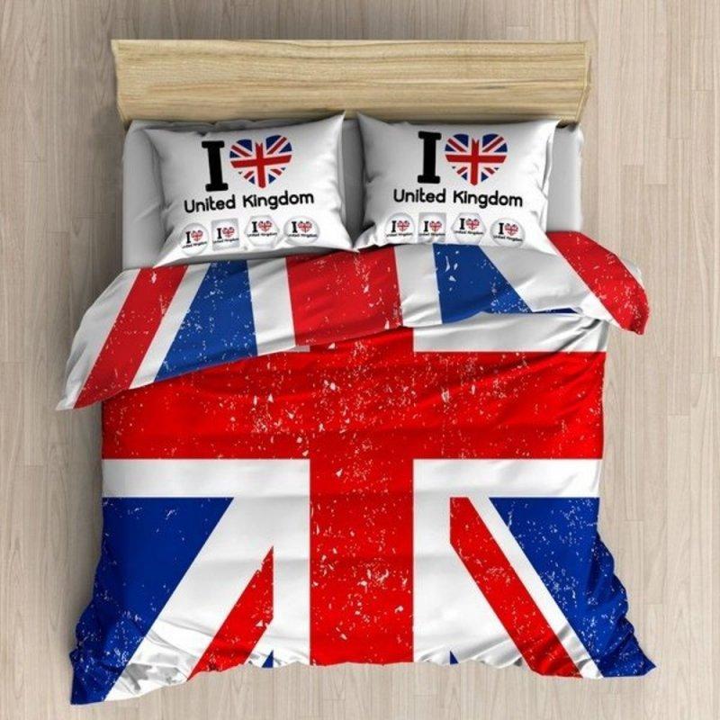 Pościel 3D 200x220 100 % BAWEŁNA POLSKI PRODUCENT WZ. 008 Pościel Flaga Anglii Pościel Młodzieżowa Pościel Bawełniana 200x220