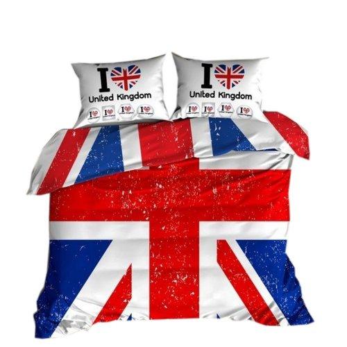 Pościel 3D 200x220 100 % BAWEŁNA POLSKI PRODUCENT WZ. 008 Pościel flaga Anglii
