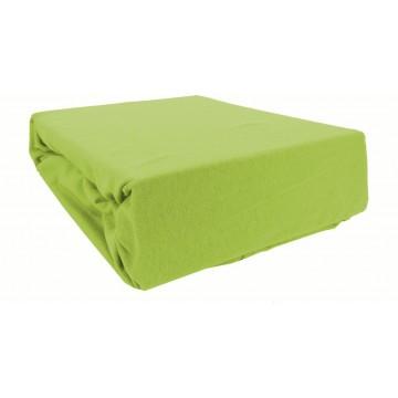 Prześcieradło bawełniane z gumką 160x200 Jersey 26 (zielone)