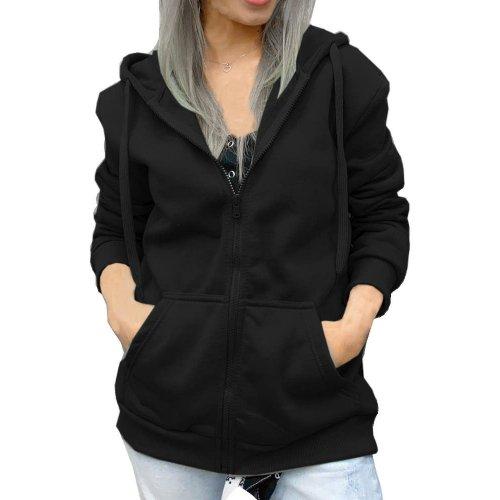Klasyczna bluza damska nieocieplana - czarna