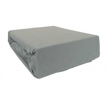 Prześcieradło bawełniane z gumką 180x200 Jersey 50 (szare)
