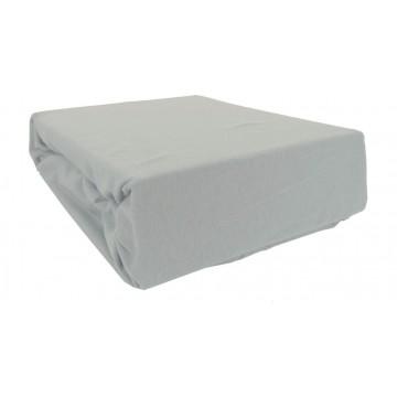 Prześcieradło bawełniane z gumką 200x220 Jersey 46 (szare)