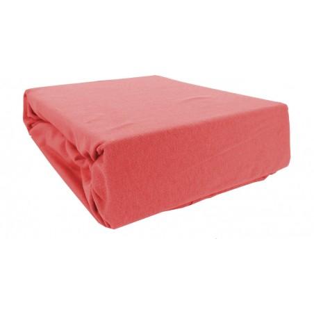 Prześcieradło bawełniane z gumką 200x220 Jersey 14 (czerwone)