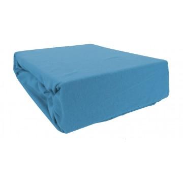 Prześcieradło bawełniane z gumką 200x220 Jersey 41 (niebieskie)