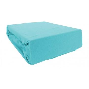 Prześcieradło bawełniane z gumką 200x220 Jersey 38 (niebieskie)