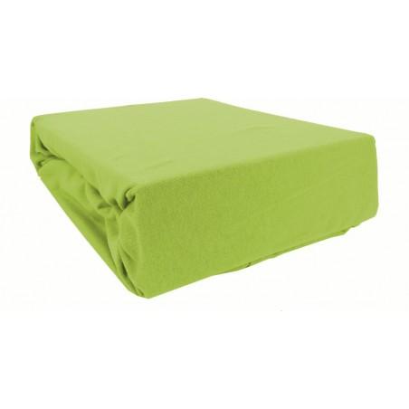 Prześcieradło bawełniane z gumką 200x220 Jersey 26 (zielone)