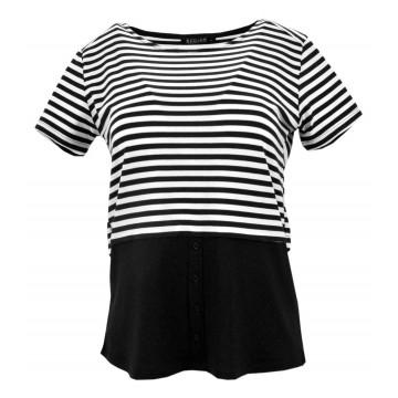Bluzka w paski 2w1 (czarna)