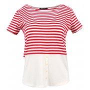Bluzka w paski 2w1 (czerwona)