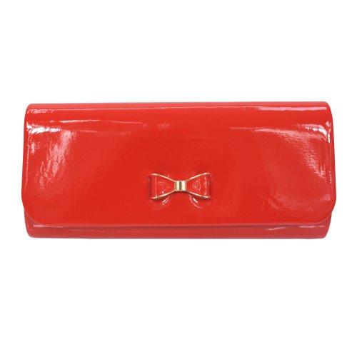 Torebka kopertówka z kokardką (czerwona)
