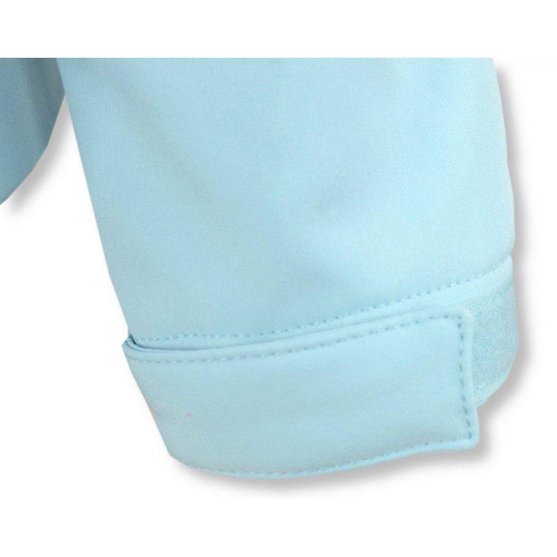 Kurtka Damska Softshell - błękitna Softshell damski z kapturem przejściowa kurtka damska