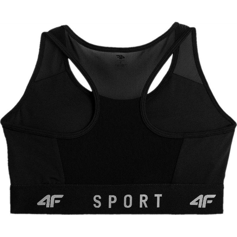 Biustonosz damski sportowy 4F - NOSH4 STAD350 - czarny