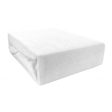 Prześcieradło bawełniane z gumką 180x200 Frotte 01 (białe)