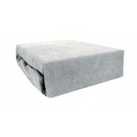Prześcieradło bawełniane z gumką 200x220 Frotte 46 (szare)