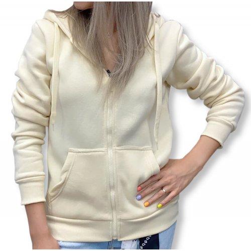 Klasyczna bluza damska - jasny beż