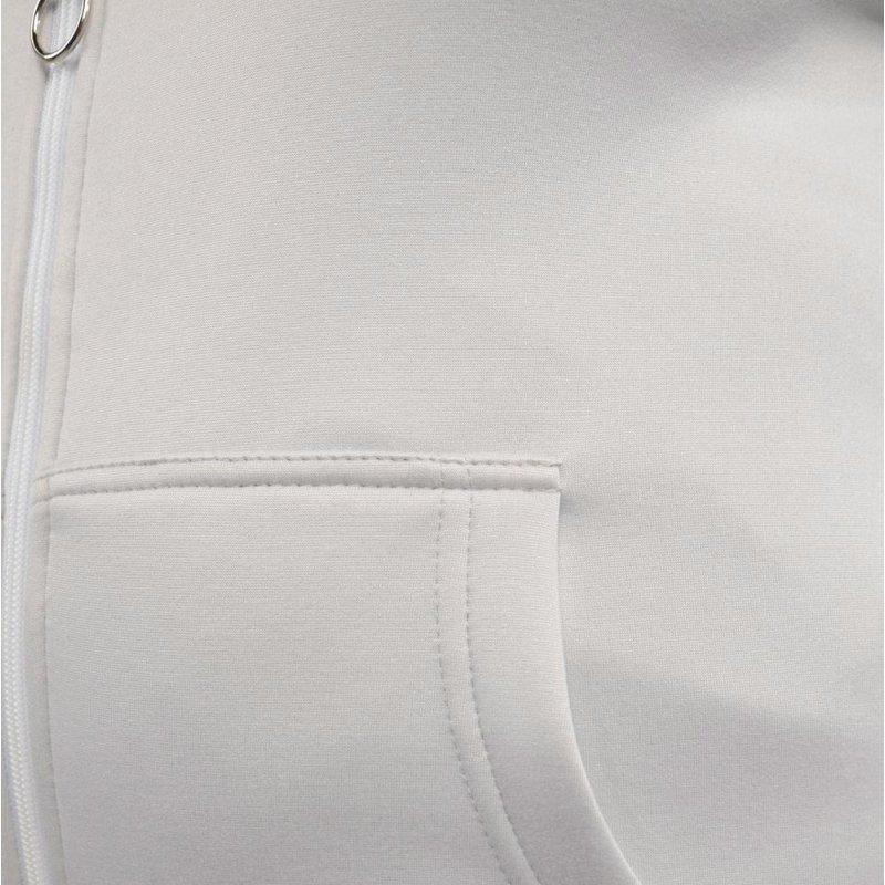 Bluza damska z kapturem EPISTER 58410 - szara Bluza na zamek damska Bluza z kapturem damska Bluza damska rozpinana