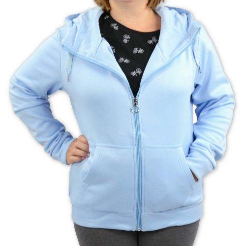 Bluza damska z kapturem EPISTER 58410 - niebieska Bluza na zamek damska Bluza z kapturem damska Bluza damska rozpinana