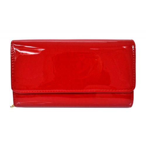 Mała lakierowana kopertówka (czerwona)