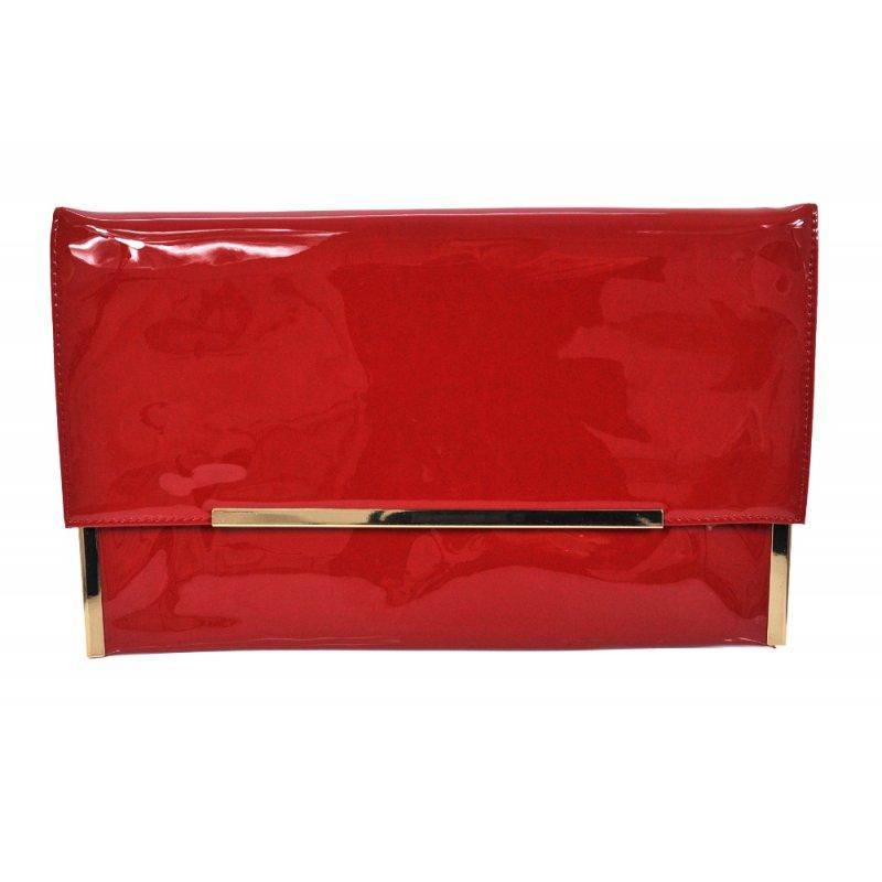 Duża płaska kopertówka (czerwona)
