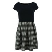 Sukienka rozkloszowana w krateczkę (czarna)