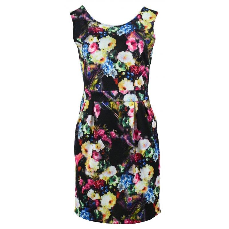 Sukienka typu tulipan (wielokolorowa)