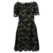 Sukienka rozkloszowana z delikatnej koronki (czarna)