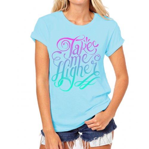 Koszulka Take Me Higher (turkusowa)