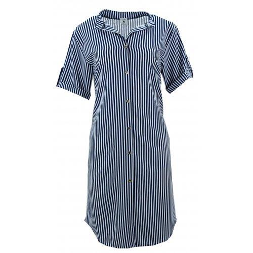 Zwiewna sukienka/tunika marynarska (granat)