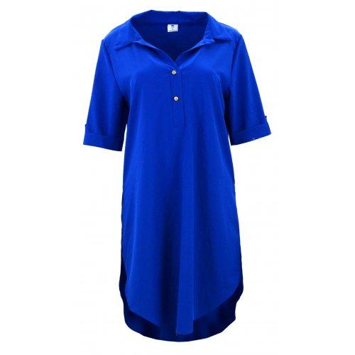 Tunika koszulowa DUŻY ROZMIAR w pięknym kolorze (chabrowa)