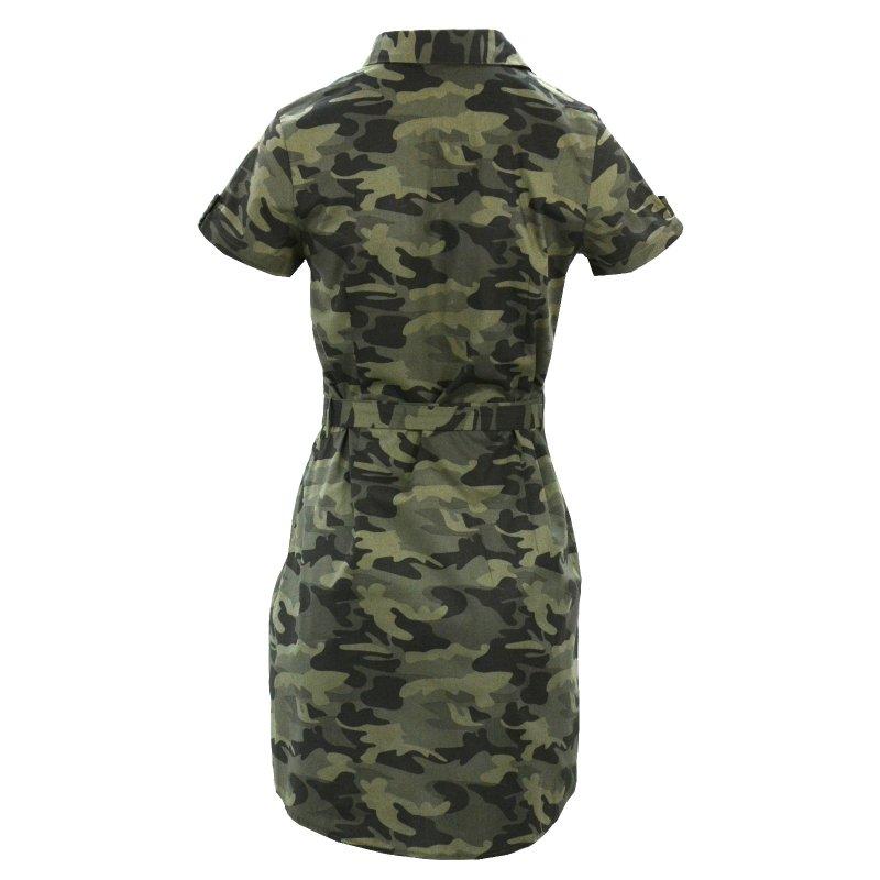 TUNIKA KOSZULOWA MORO sukienka z krótkim rękawem