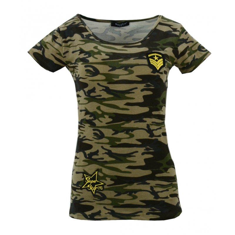 Koszula bawełniana MORO kr. rękaw (khaki)