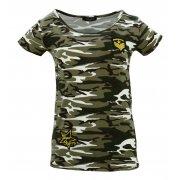 Koszulka bawełniana MORO kr. rękaw (khaki2)
