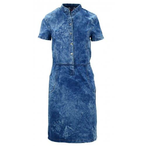 Sukienka jeansowa zapinana na napy