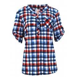 Koszula w kratkę z miękkiej dzianiny DUŻY ROZMIAR (czerwona)