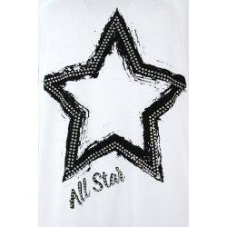 Bluzka tunika D. ROZMIAR z gwiazdą (biała)