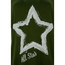 Bluzka tunika D. ROZMIAR z gwiazdą (zielona)