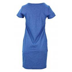 Sukienka z jeansowej dzianiny z kieszeniami (j. jeans)