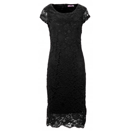 Sukienka koronkowa DUŻY ROZMIAR (czarna)