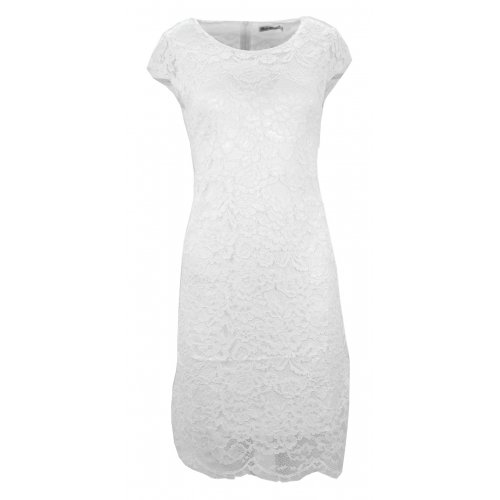 Sukienka koronkowa DUŻY ROZMIAR (biała)