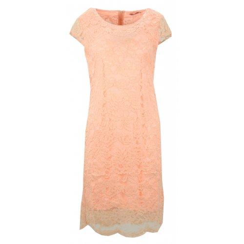 Sukienka koronkowa DUŻY ROZMIAR (brzoskwiniowa)