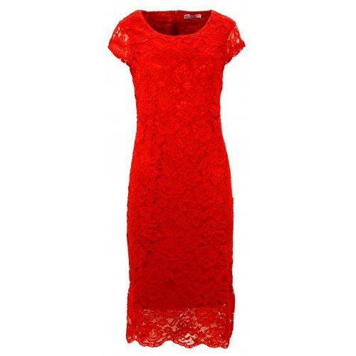 Sukienka koronkowa DUŻY ROZMIAR (czerwona)