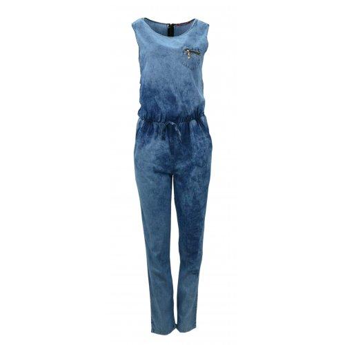 Kombinezon DENIM jeansowy z kieszonką