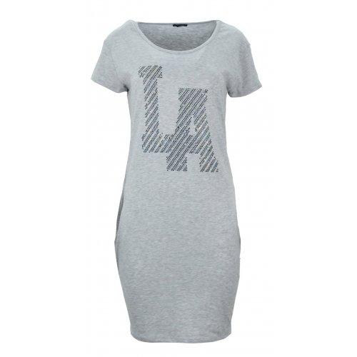"Sukienka tunika z kieszeniami ""LA"" (szara)"