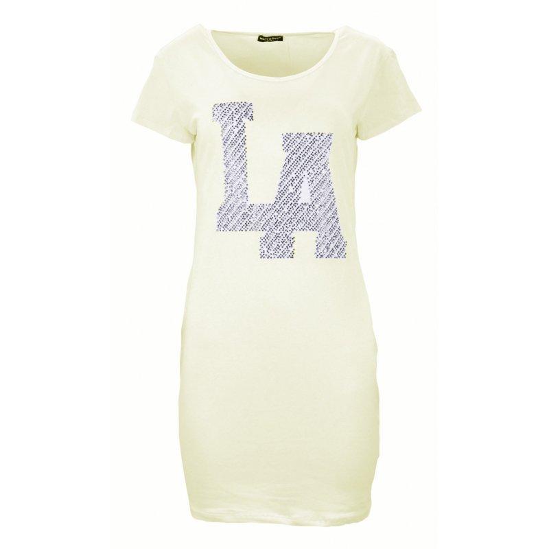 """Sukienka tunika z kieszeniami """"LA"""" (kremowa)"""