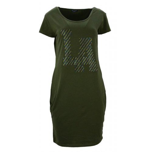 """Sukienka tunika z kieszeniami """"LA"""" (zielona)"""