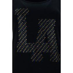 """Sukienka tunika z kieszeniami """"LA"""" (czarna)"""