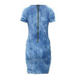 Sukienka jeansowa DENIM z ozdobnymi zamkami