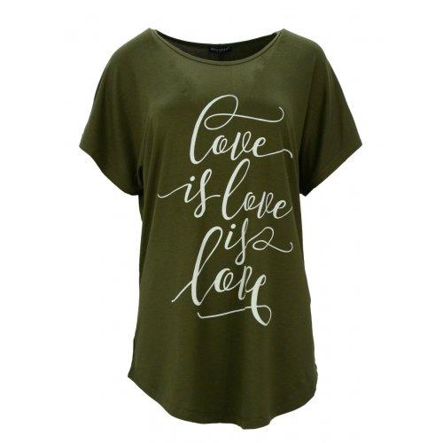 Bluzka luźna z napisami (zielona)