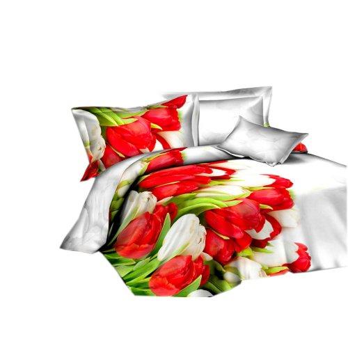Pościel w kwiaty 160x200 3D (wz.5)